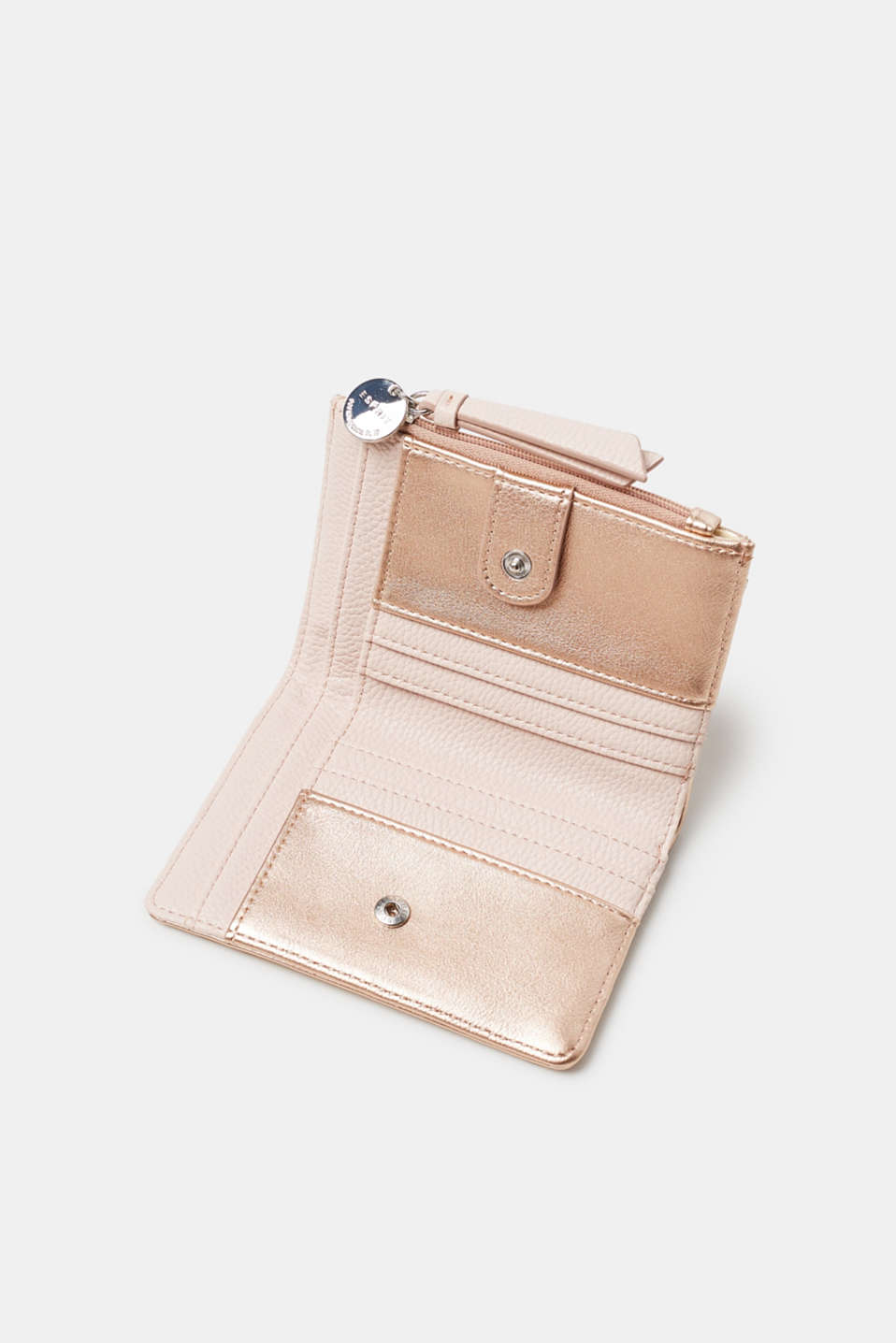 Compact faux leather purse
