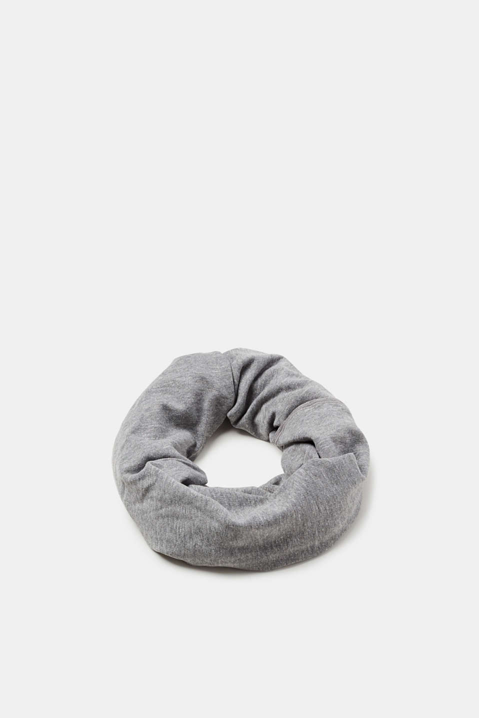 Esprit - Snood in blended cotton sweatshirt fabric