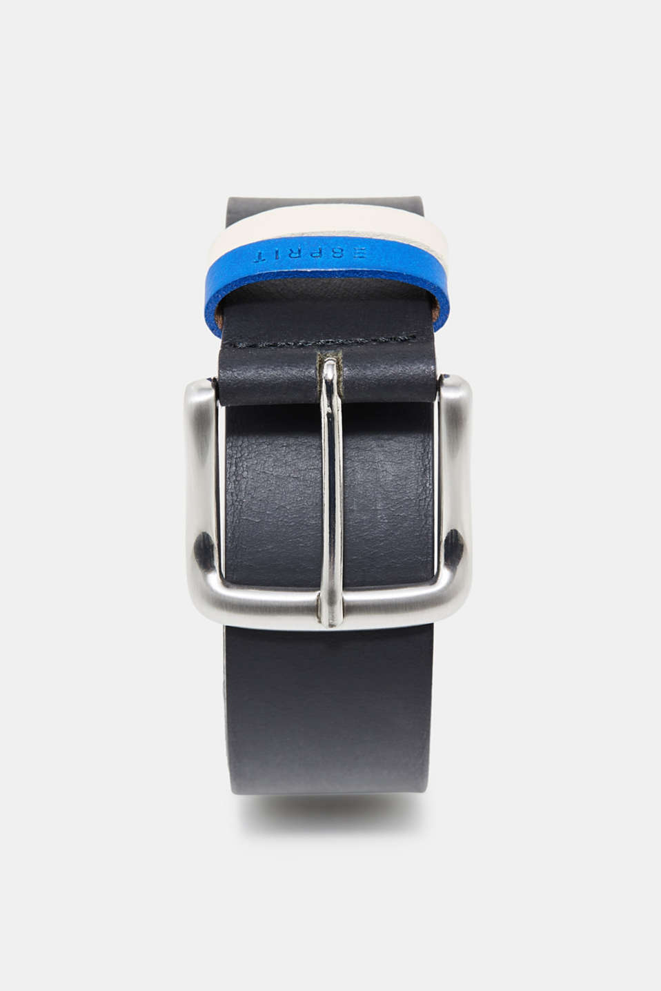 Esprit - Leather belt with two-tone loops