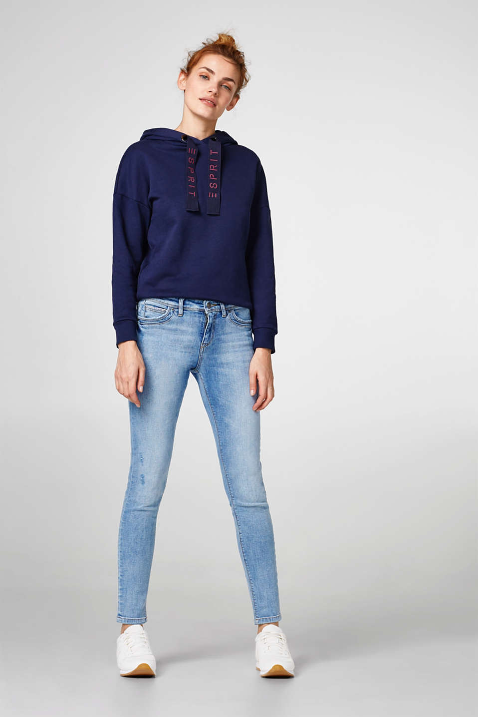 Esprit - Stretch jeans with organic cotton