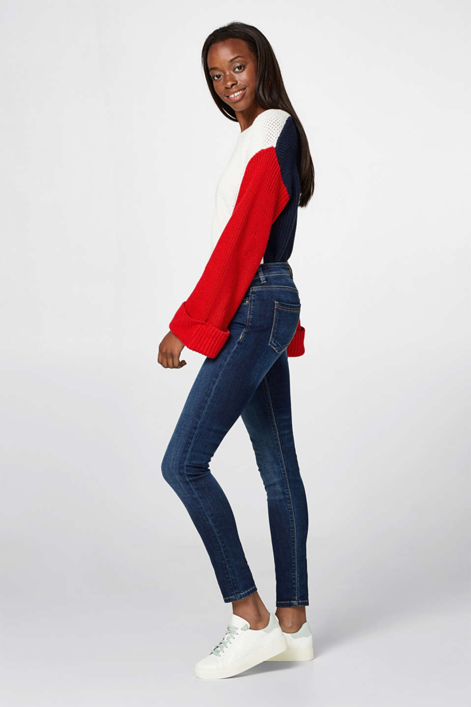 Esprit - Schmale Stretch-Jeans mit Organic Cotton