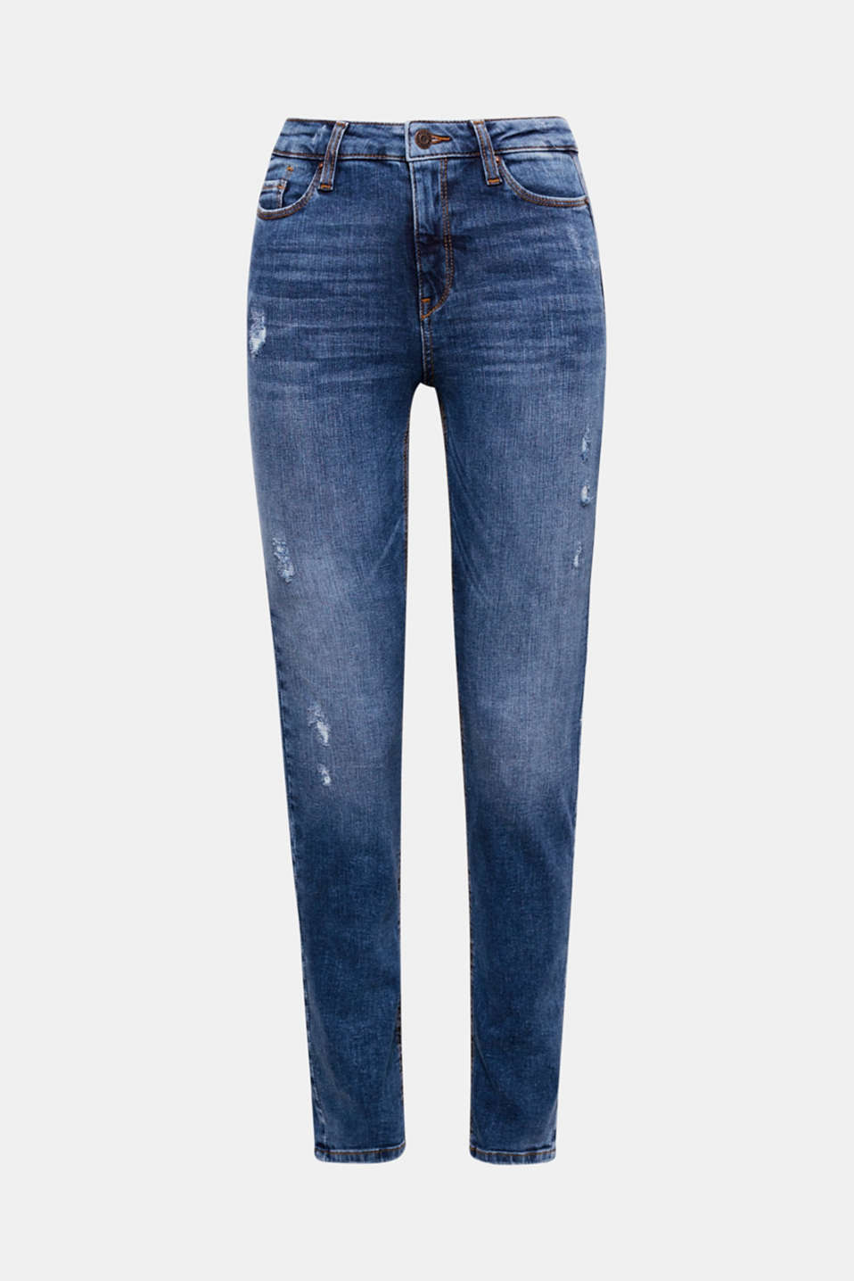 We love denim! Distinctive vintage and washed effects make these five-pocket jeans a favourite style.