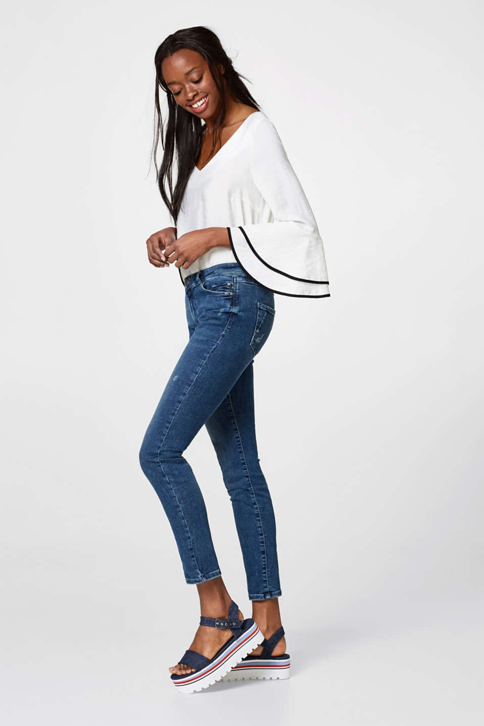 Esprit - Super stretch jeans with zip pockets