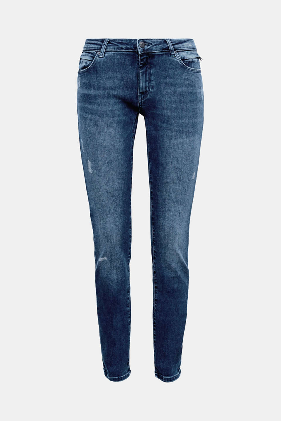 the two additional zip pockets accentuate the cool style of these slim-fitting stretch jeans!