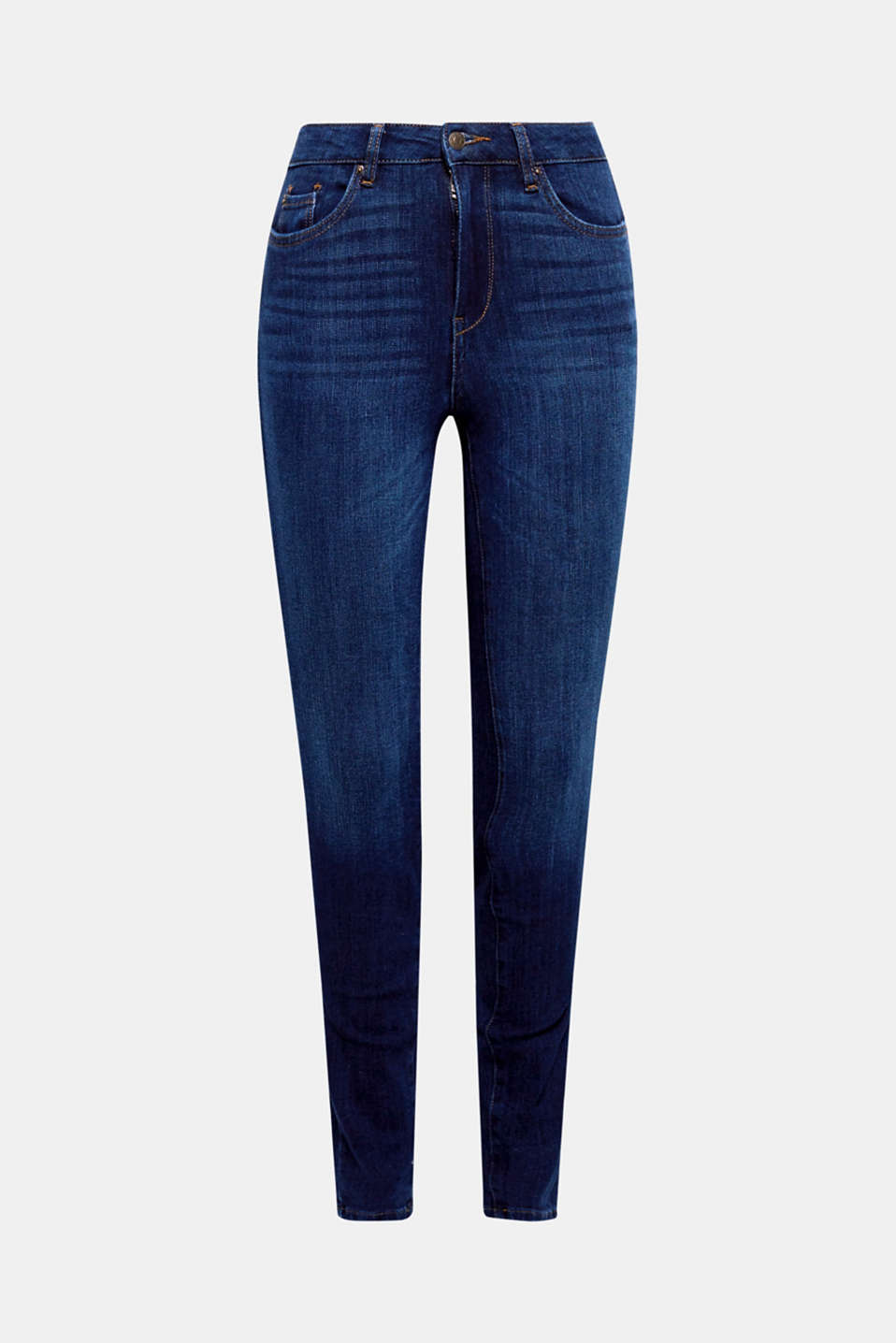 These innovative and practical shaping jeans with 4-way stretch shape your legs perfectly!