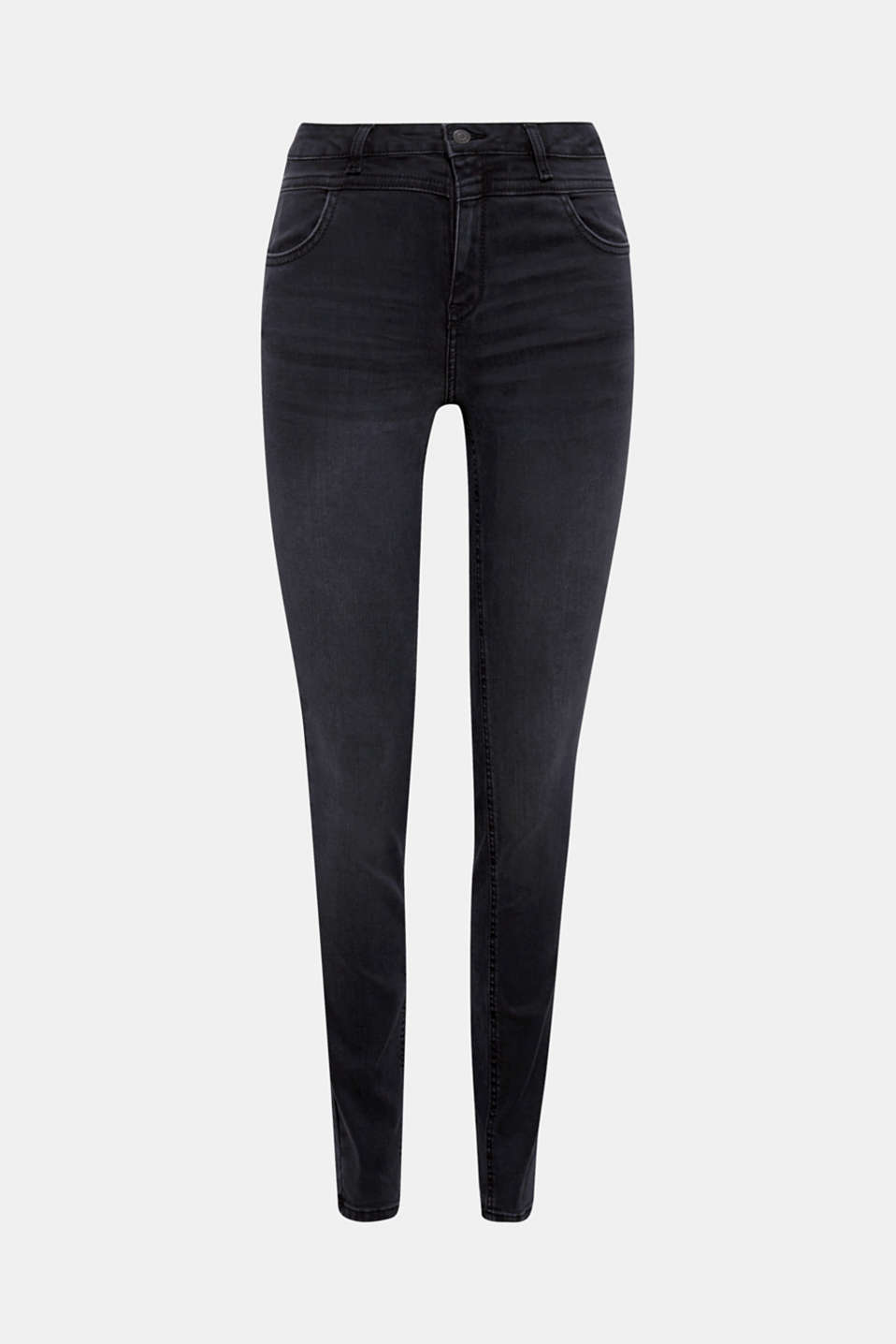 Creates a sensational silhouette: these shaping jeans in a stylish black denim with four pockets and a high waistband!
