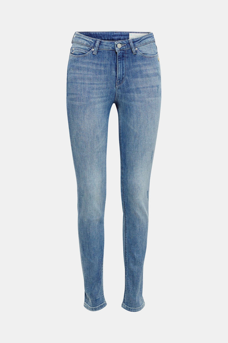 These slim-fitting stretch jeans with a high waist and vintage effects make the perfect companion for every day!