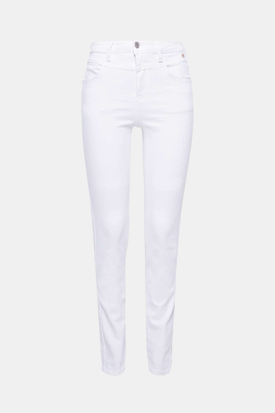 With a high waistband, slim fit and figure-shaping denim fabric, these jeans conjure up a top silhouette!