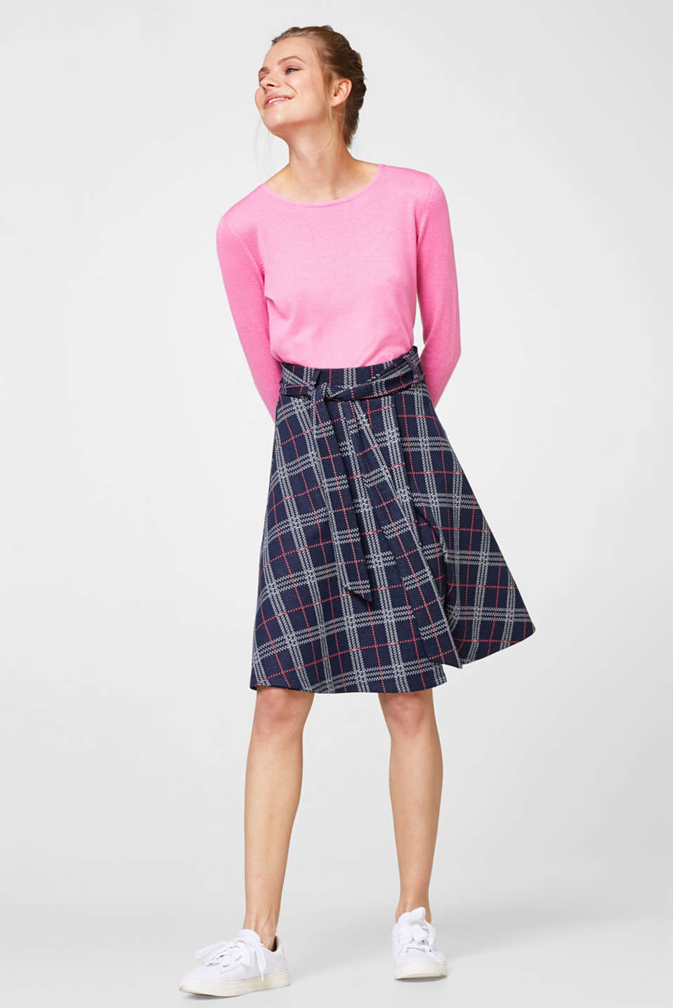 Flared skirt in compact jersey