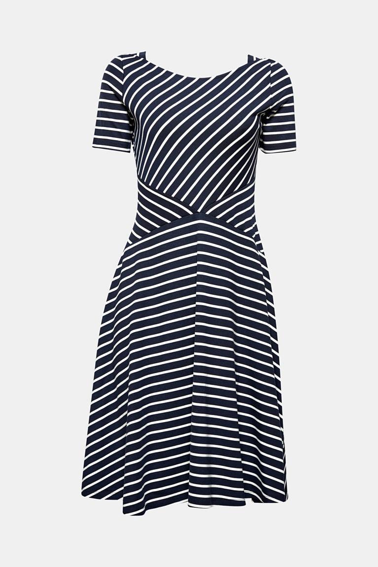 Jersey-Kleid mit schwingendem Rock