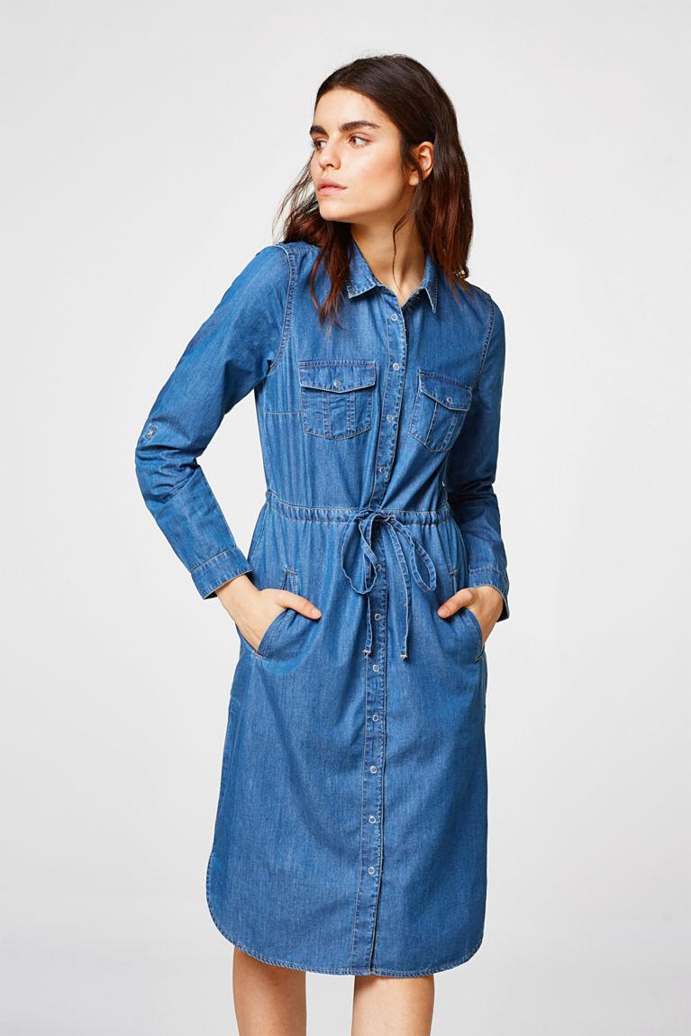 Variables Jeanskleid aus 100% Baumwolle