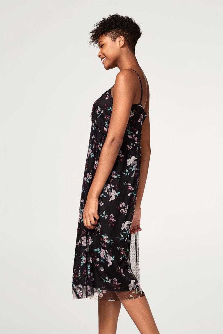 Chiffon-Kleid in modischer A-Linie