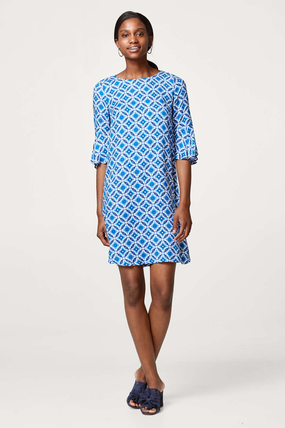 Esprit - Delicate dress with decorative mosaic print