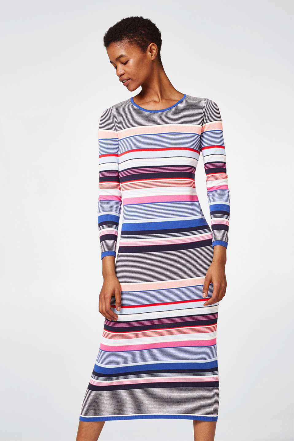 Esprit - Lightweight knitted dress in 100% cotton