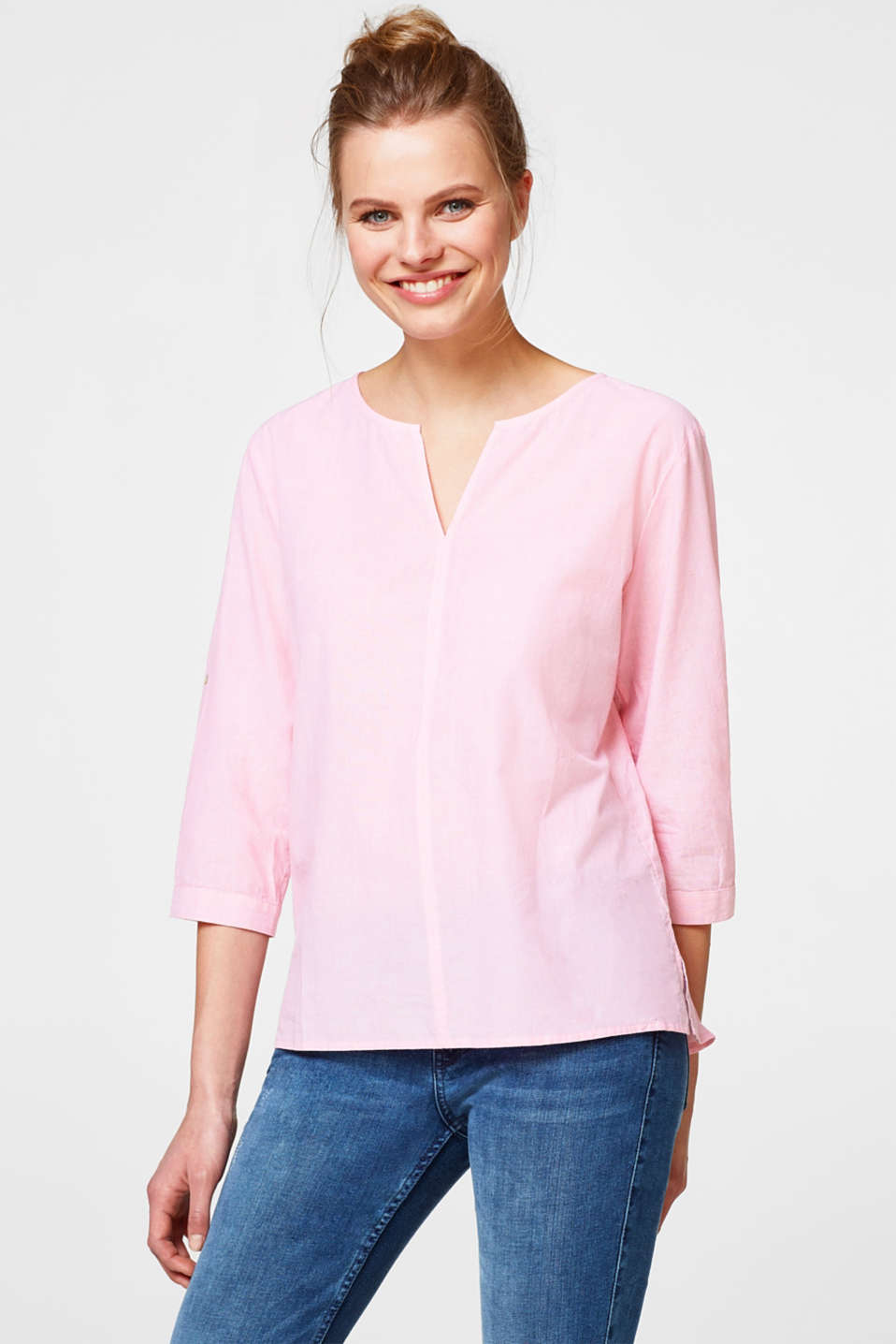Esprit - Chambray blouse in 100% cotton