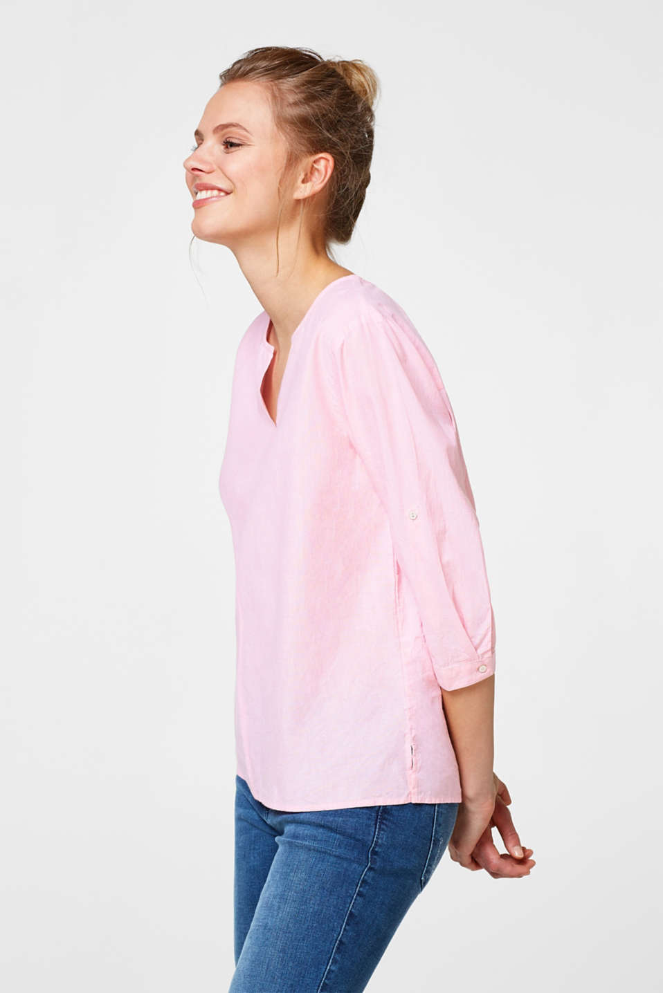 Chambray blouse in 100% cotton