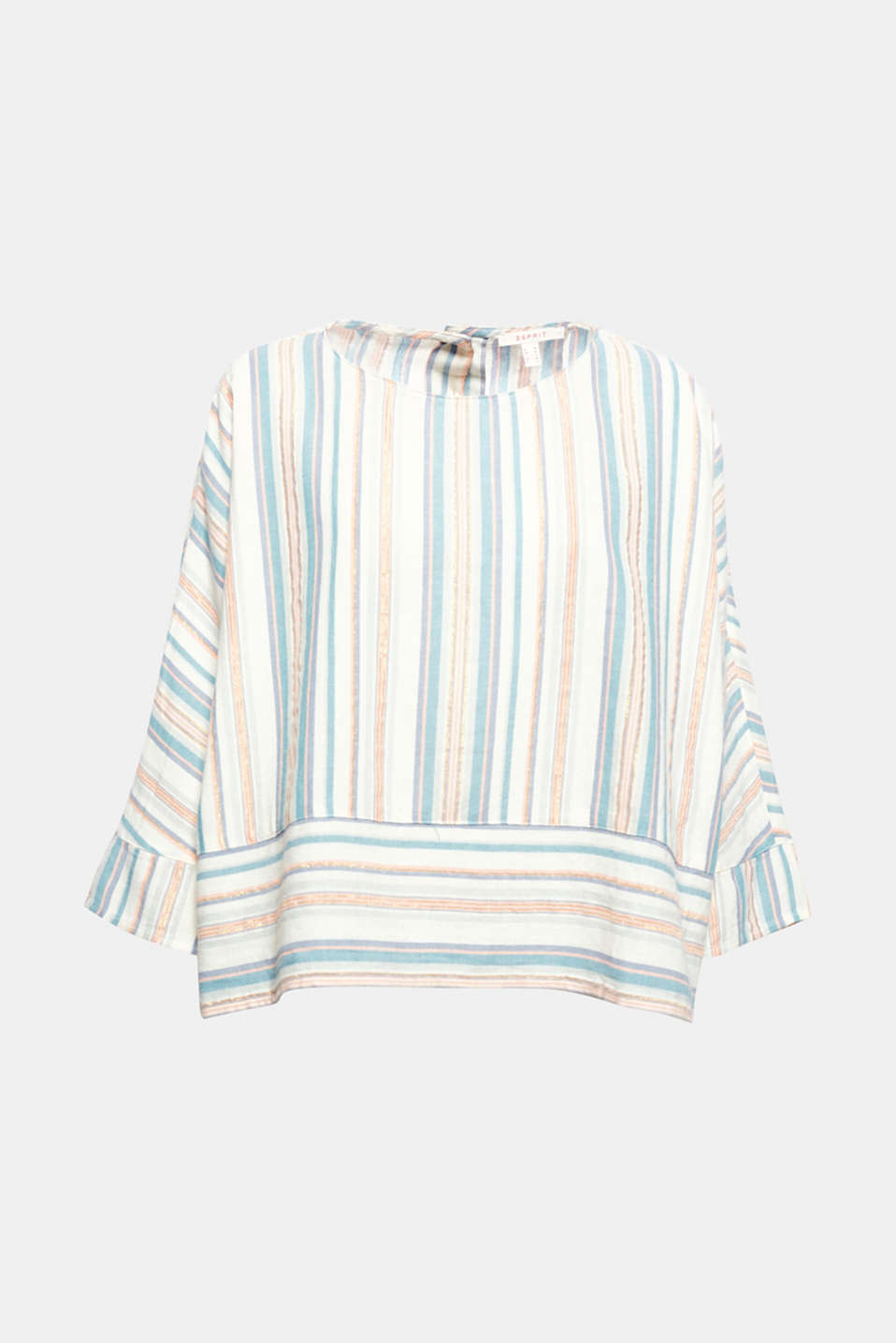 Mixed stripes with glittering lurex give this extra wide cotton blouse its individual charm!