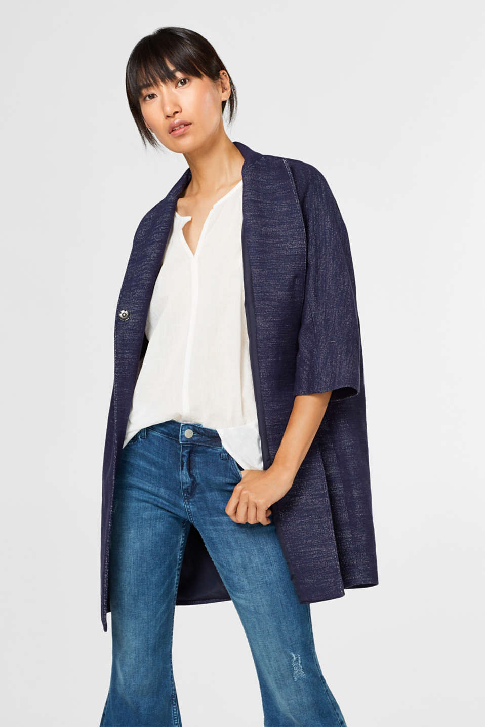 Esprit - Melange blended cotton indoor coat