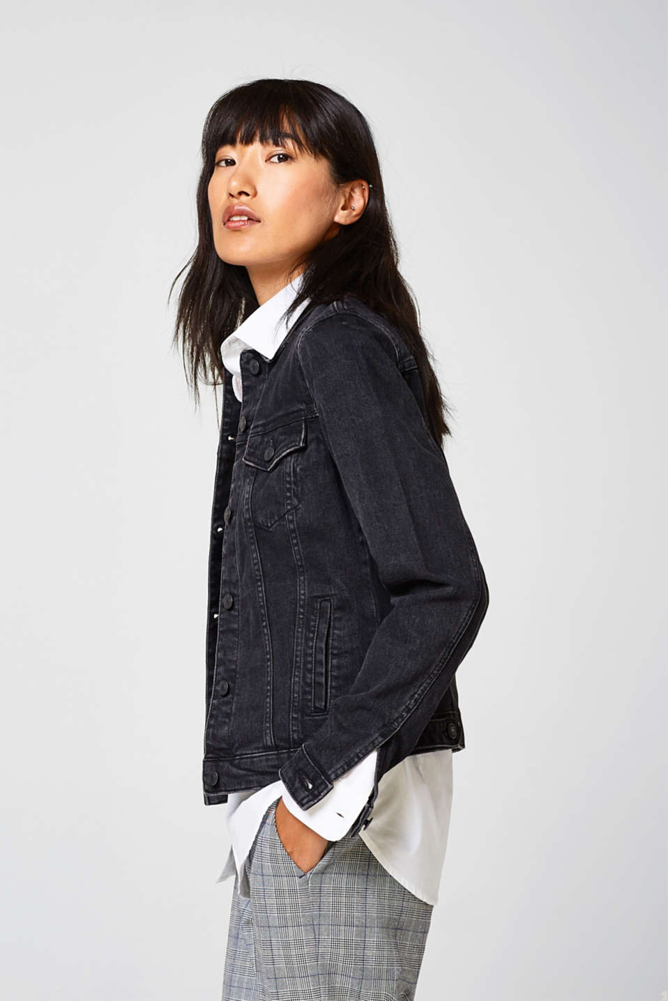 Esprit - Stretch, black denim jacket