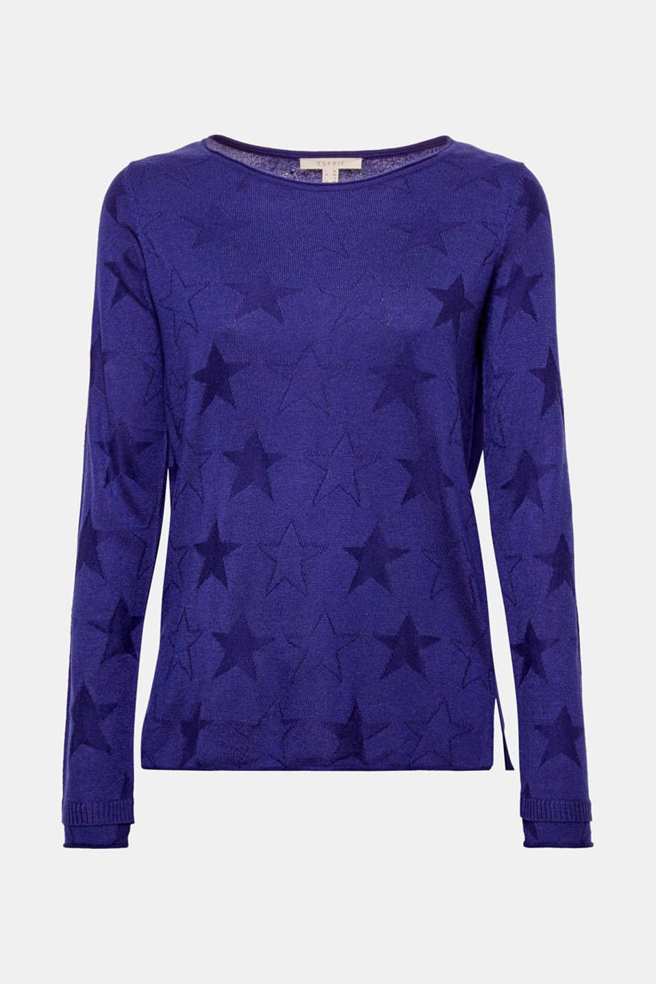 Superstar: this jumper is a real eye-catcher thanks to the interwoven tonal star intarsia!