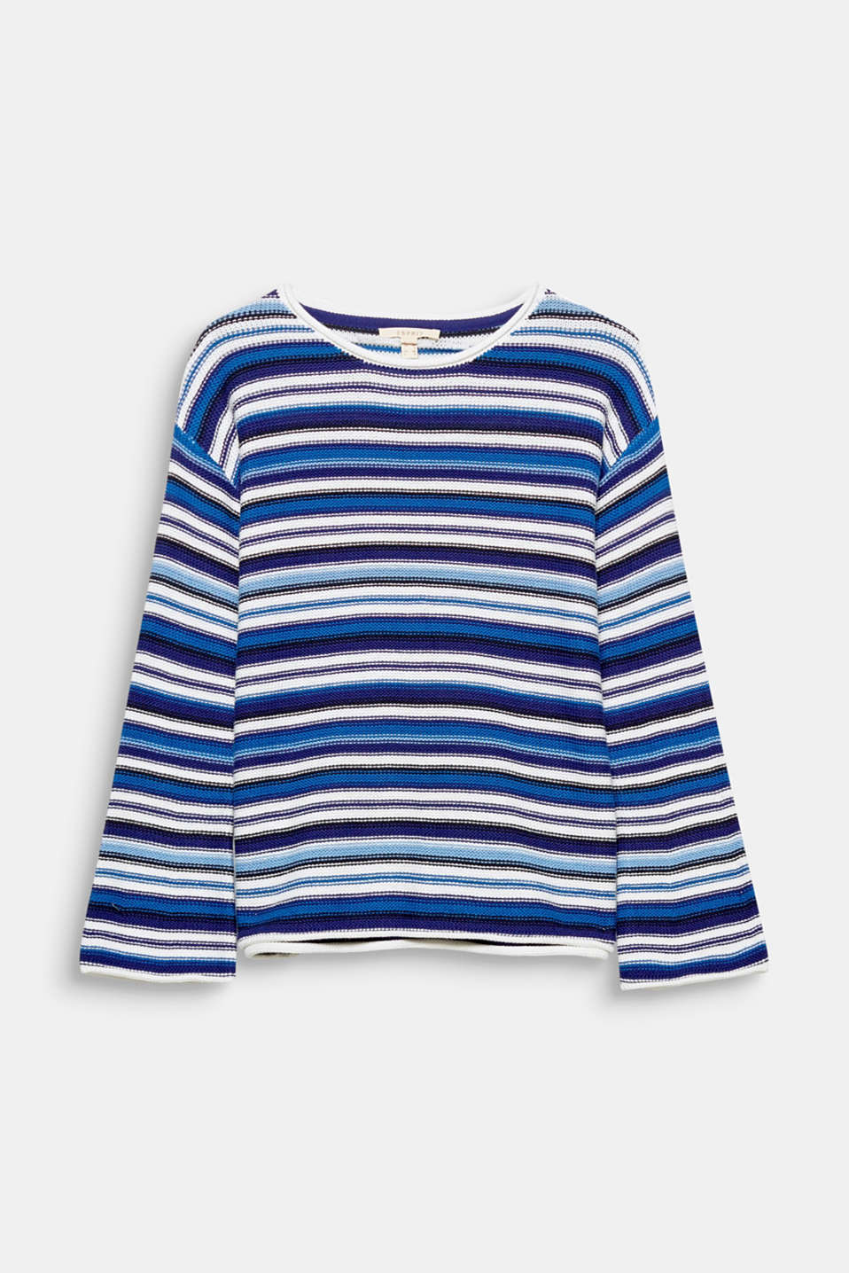 Be it plain, striped or with a logo: this blended cotton jumper scores points with its casual cut and stylish sleeve design!