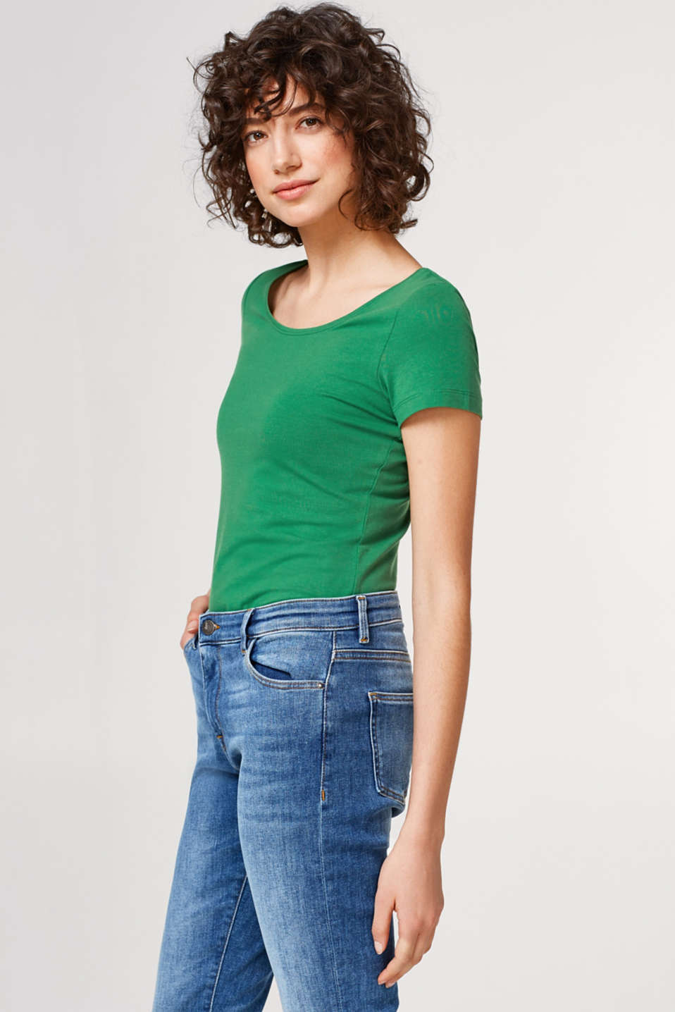 Esprit - Softes Stretch-T-Shirt mit Organic Cotton