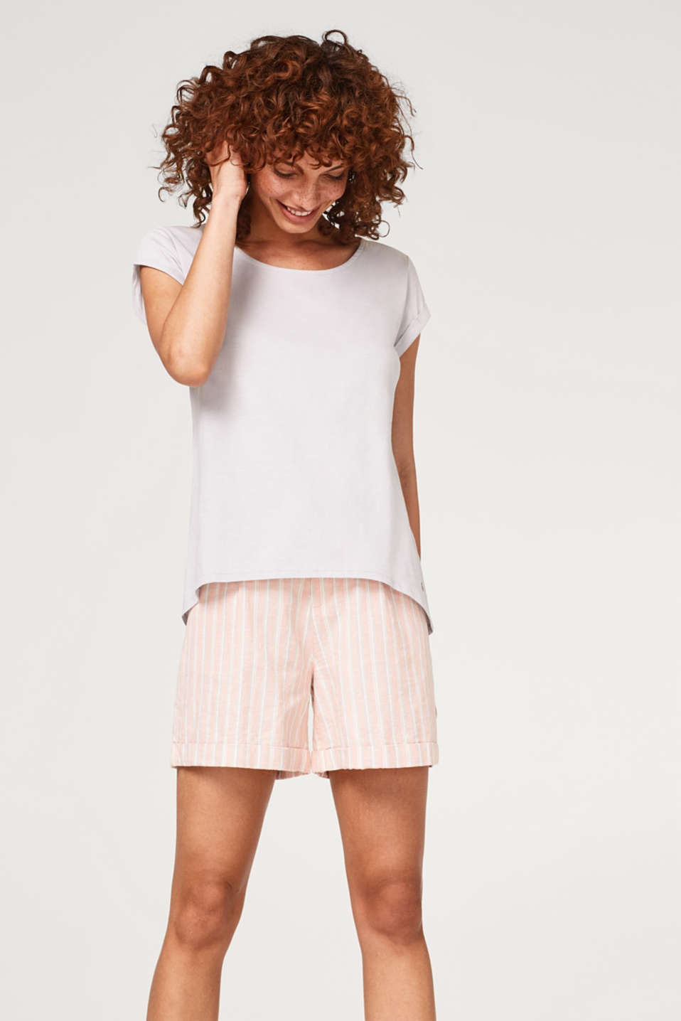 Esprit - Slub T-shirt in organic cotton