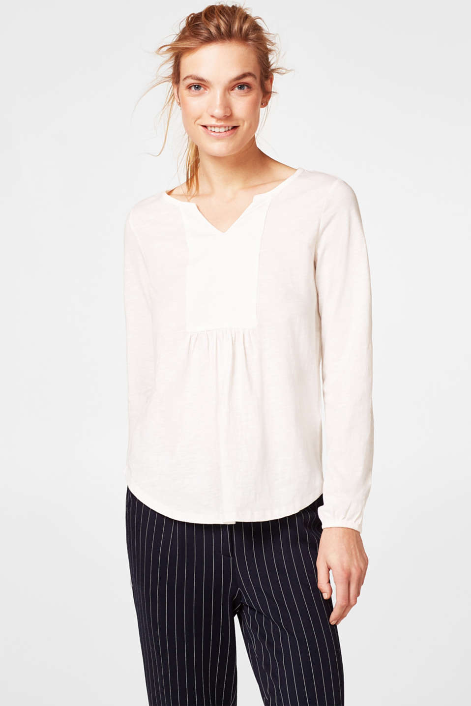 Esprit - Textured tunic-style top