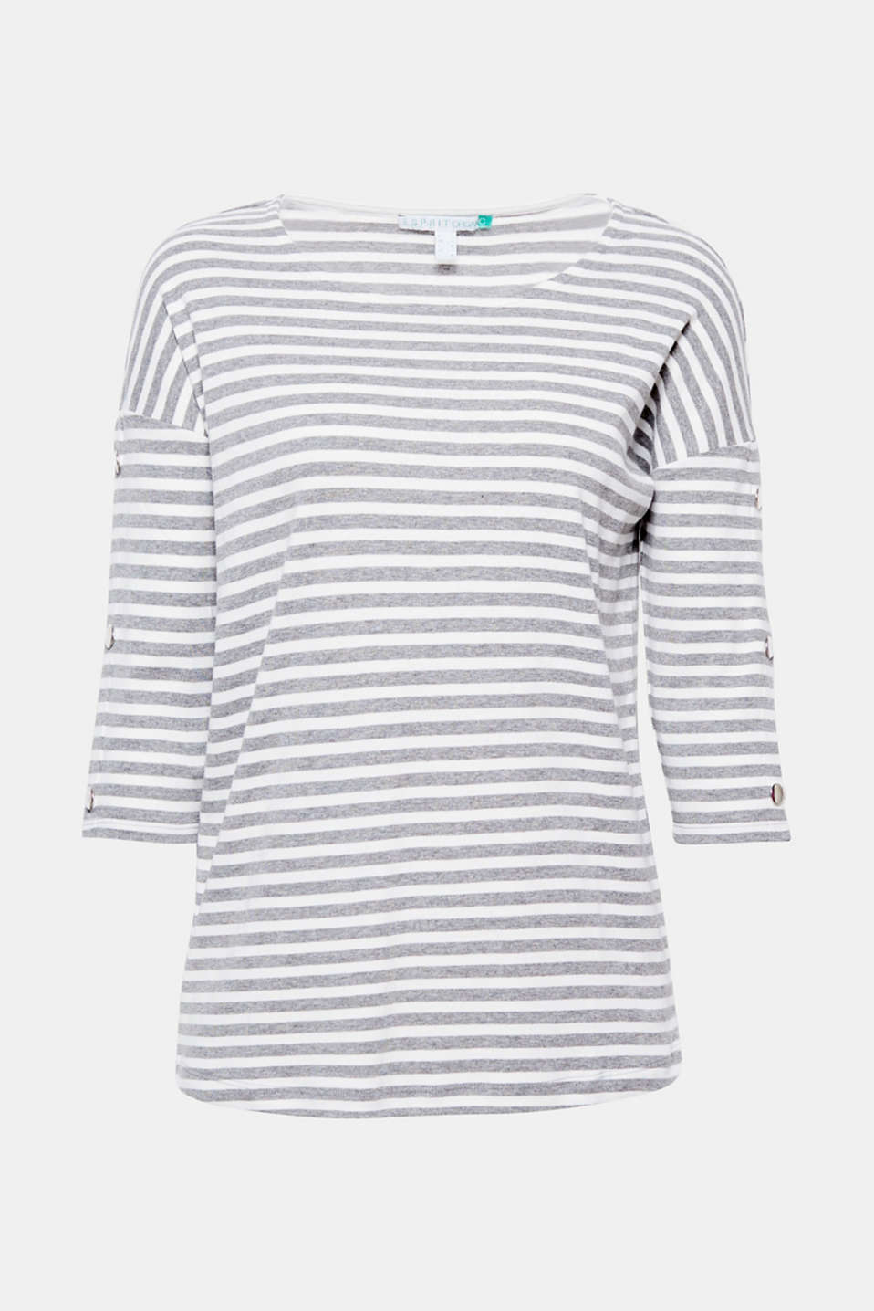 The press studs on the sleeves give this T-shirt in high-quality organic cotton it new pep!