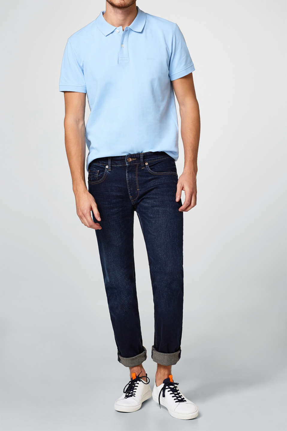 Esprit - Stretch jeans in a light vintage wash