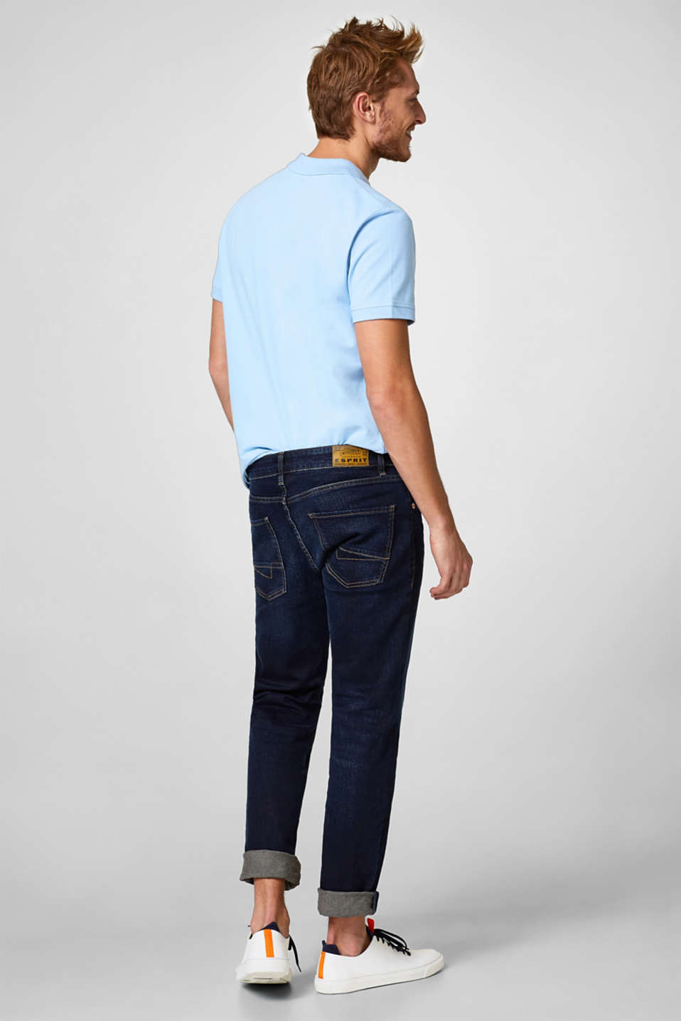 Stretch-Jeans mit leichter Used-Waschung