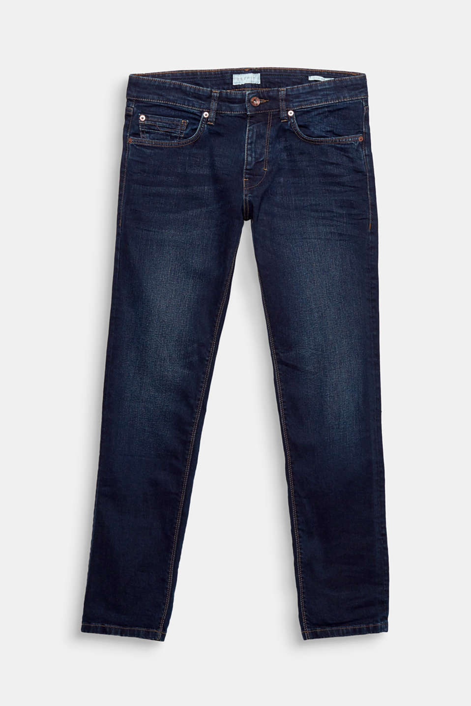 A denim heritage piece! Tobacco stitching and a vintage wash give these jeans their characteristic look.