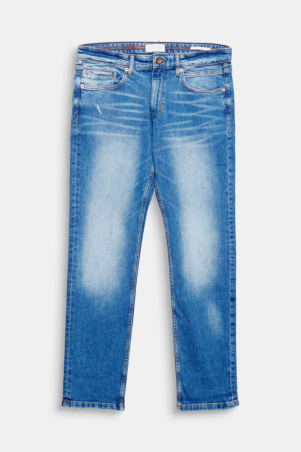 We love authentic denim! Deze jeans overtuigt door de opvallende used details en de stone wash.