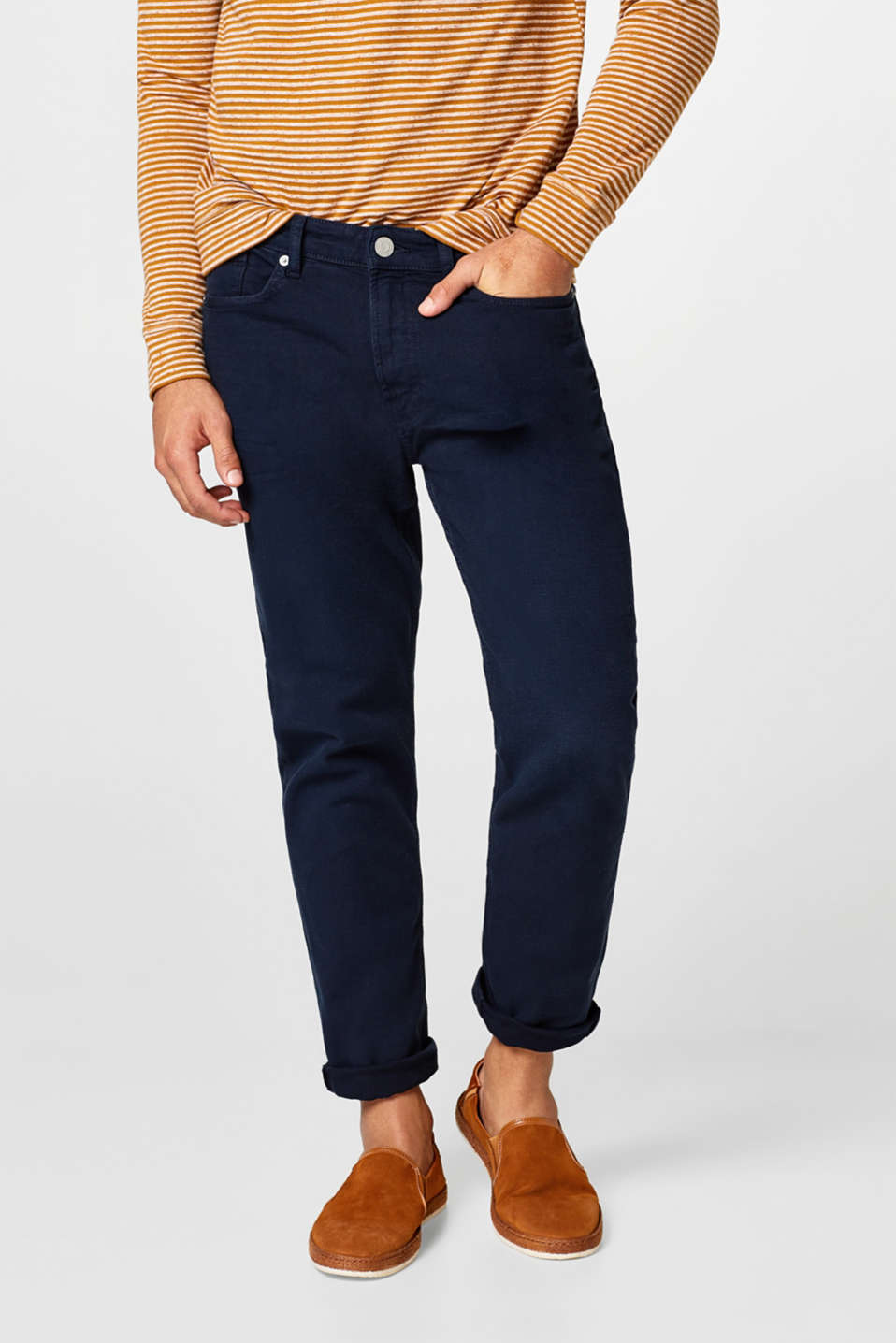 Esprit - Stretch jeans with a grainy texture