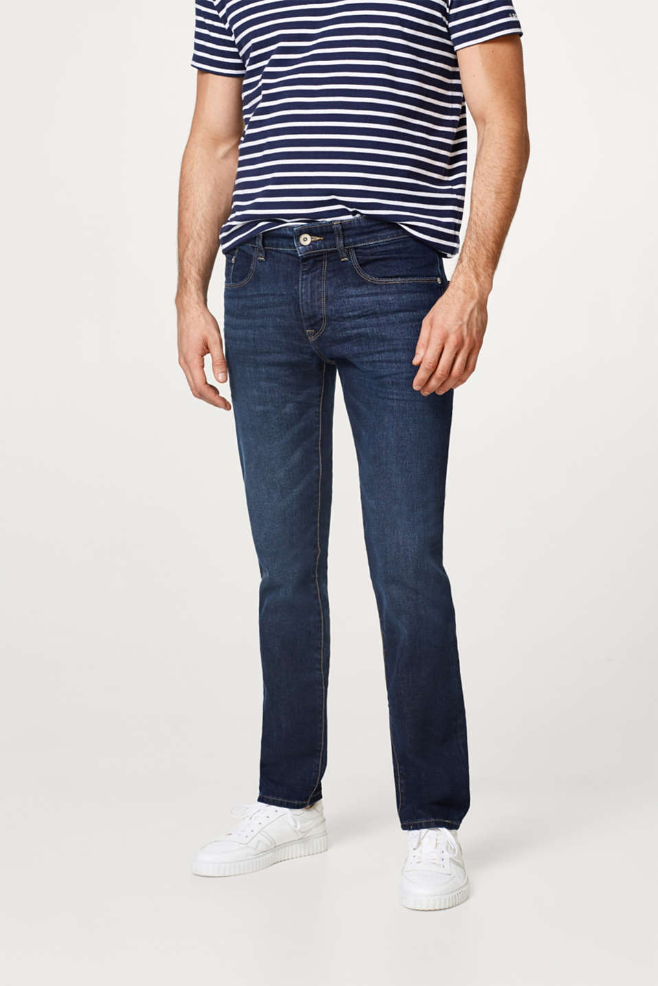Esprit - Stretch-jeans med let vask