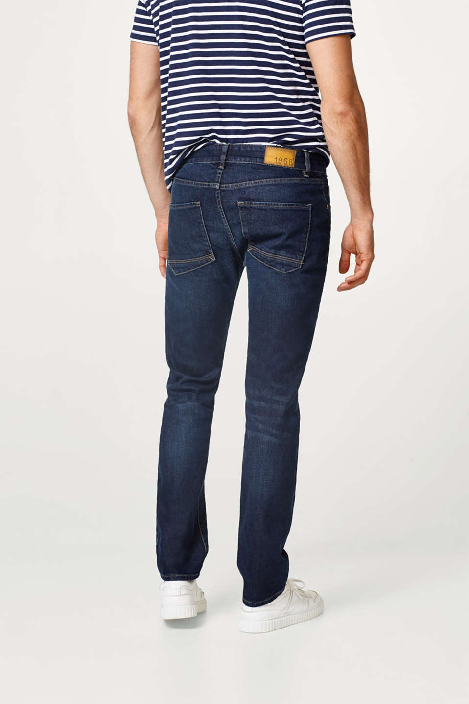 Stretch-jeans med let vask