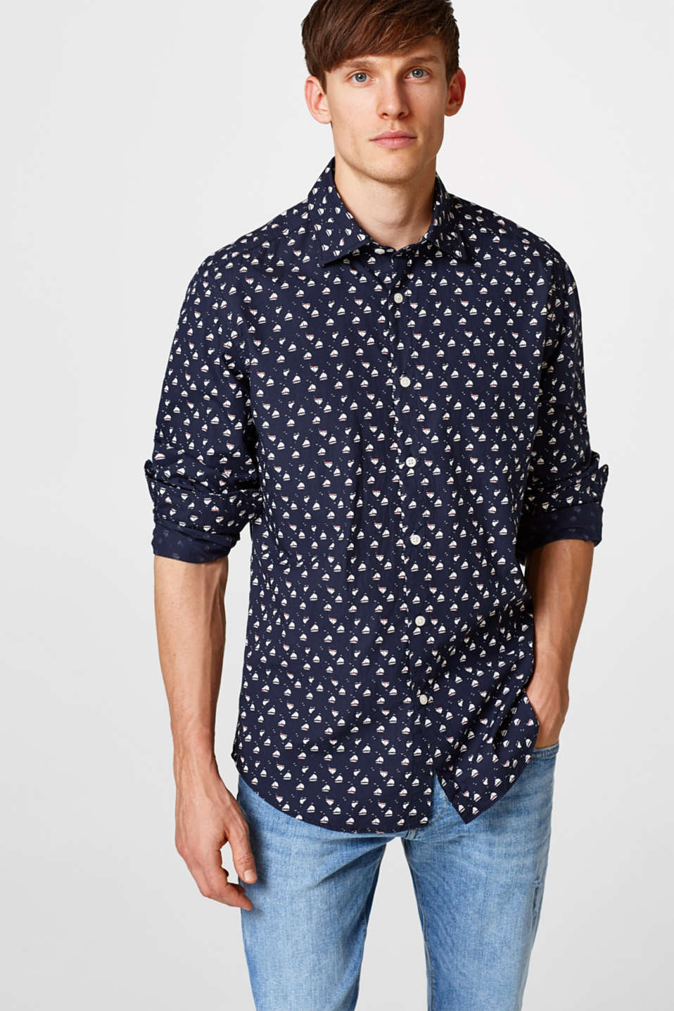 Esprit - Poplin shirt in pure cotton
