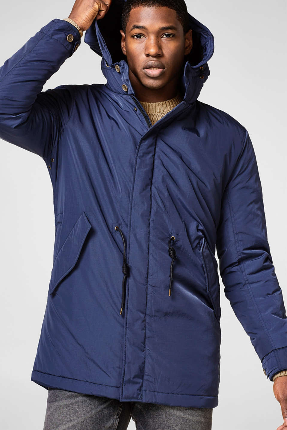 Esprit - Light parka with a hood