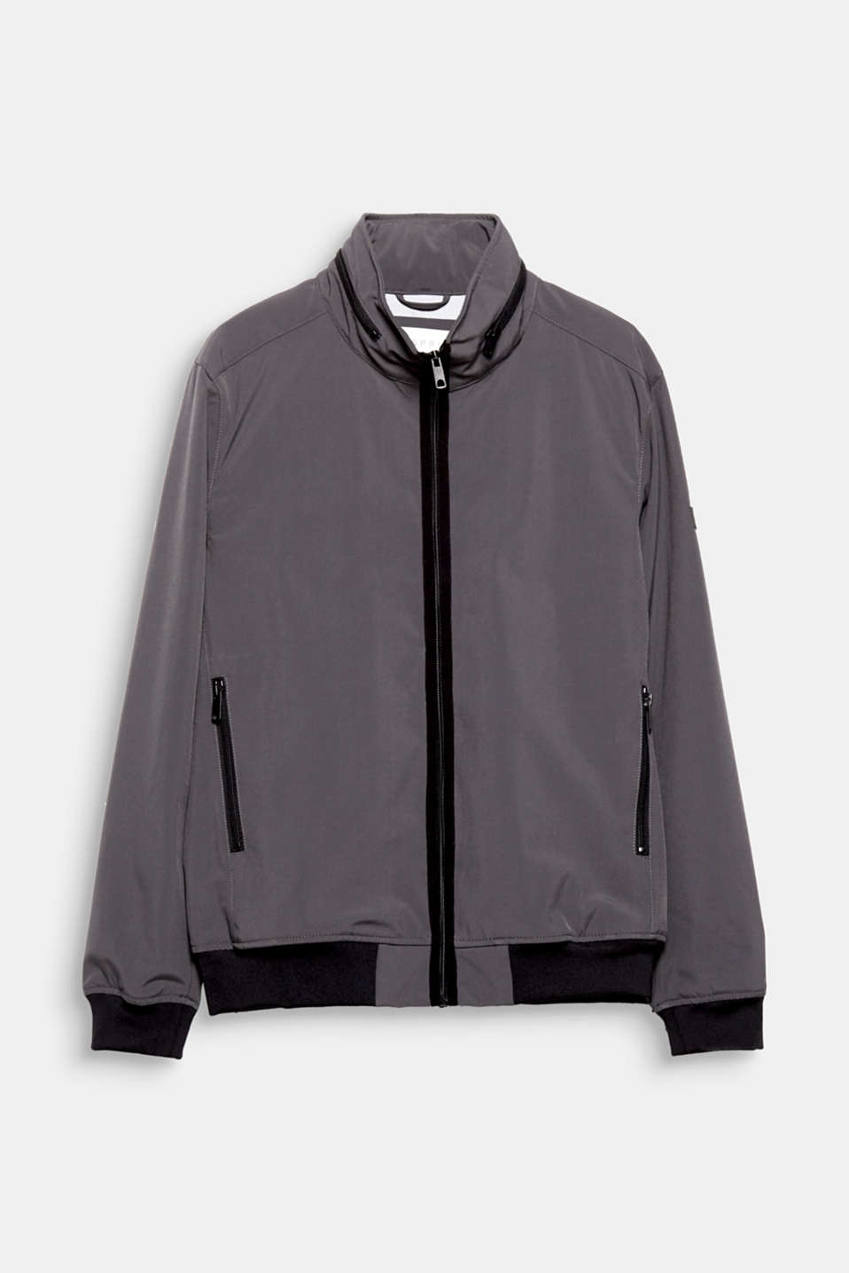 Trend: athleisure - performance for sports, style for time off: this nylon jacket with contrasting coloured cuffs.