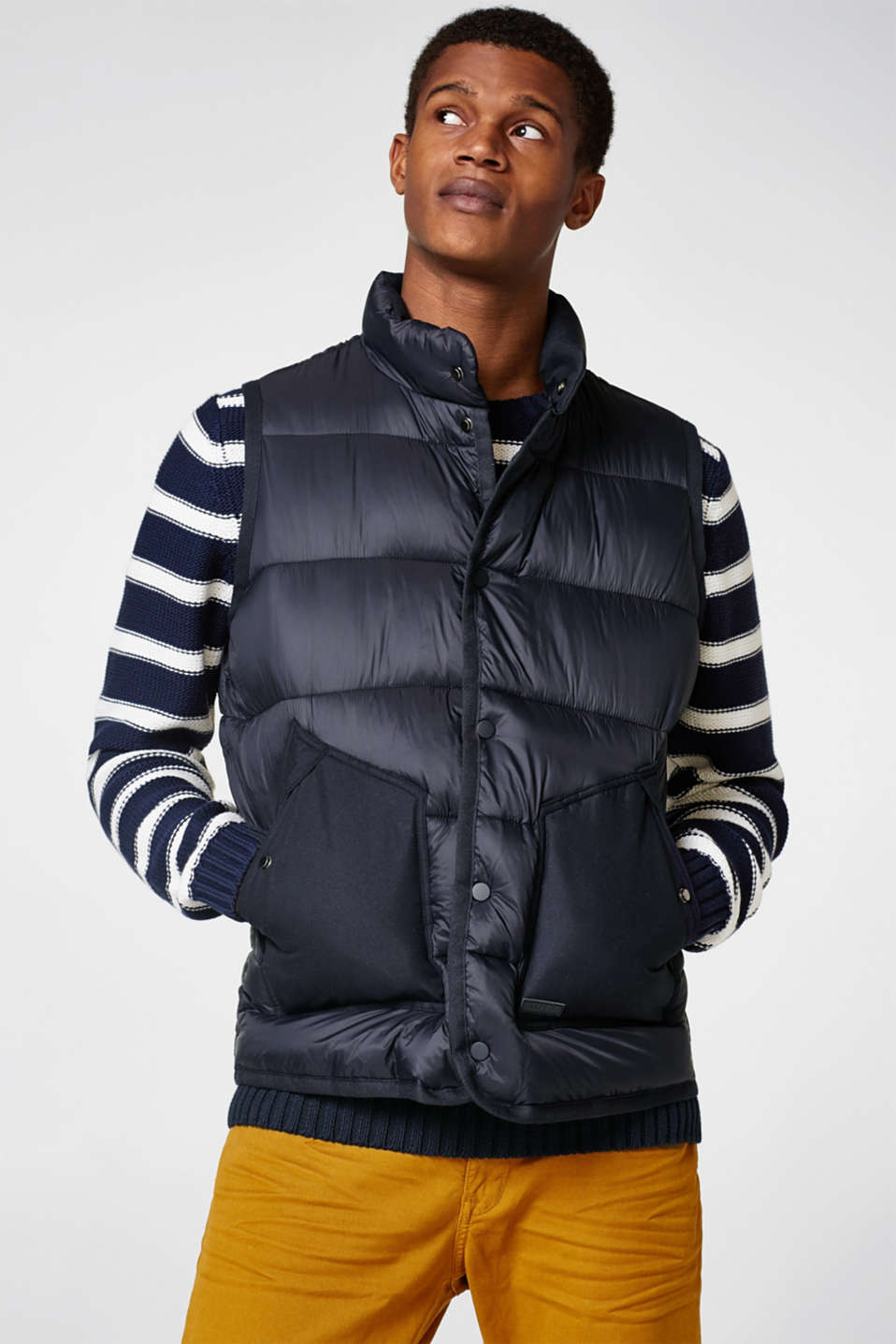 Esprit - Quilted body warmer with patch pockets