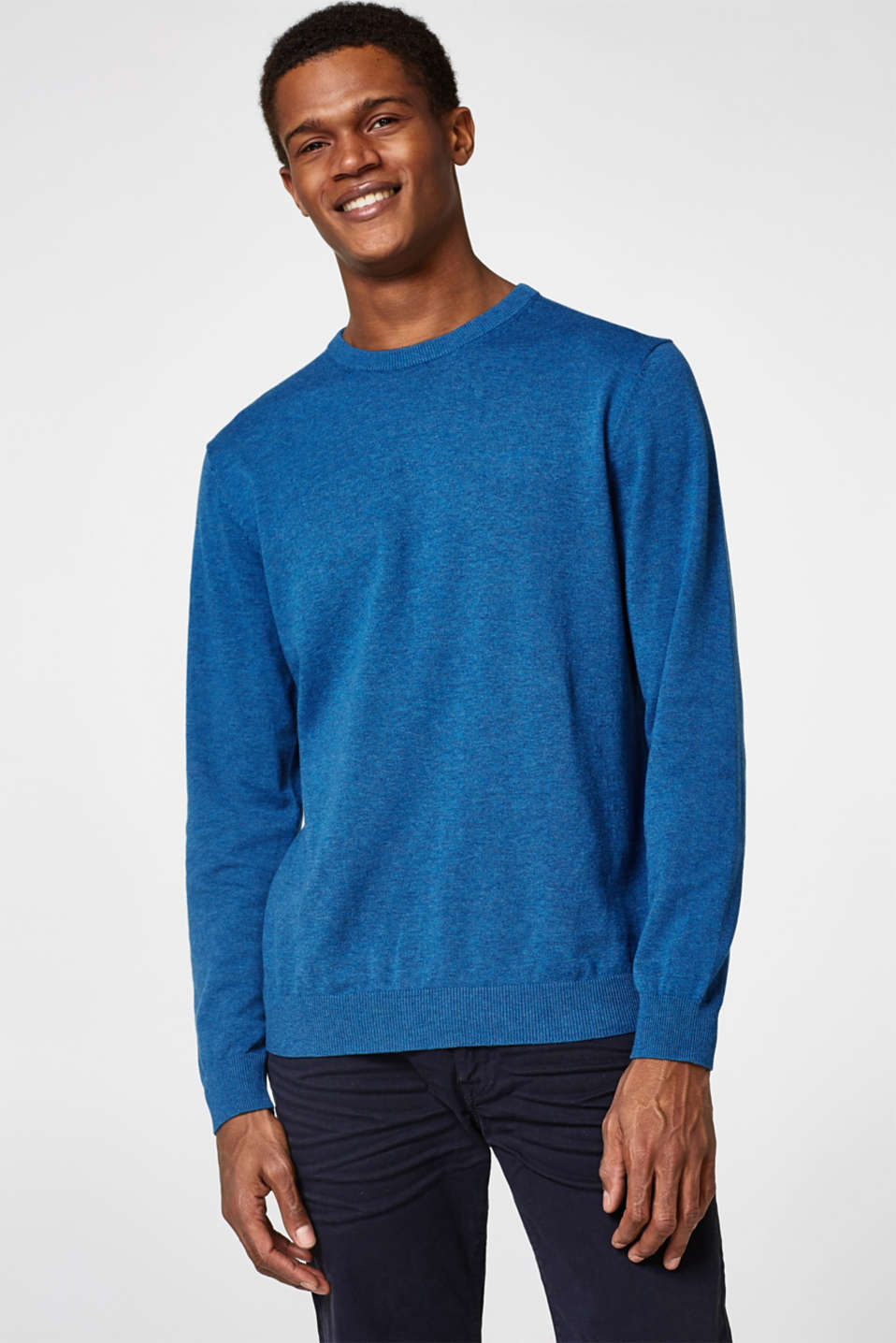 Esprit - Cotton jumper with logo embroidery