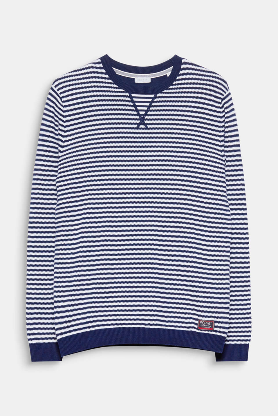 Nautical textured stripes make this jumper an exciting eye-catching piece for your look!