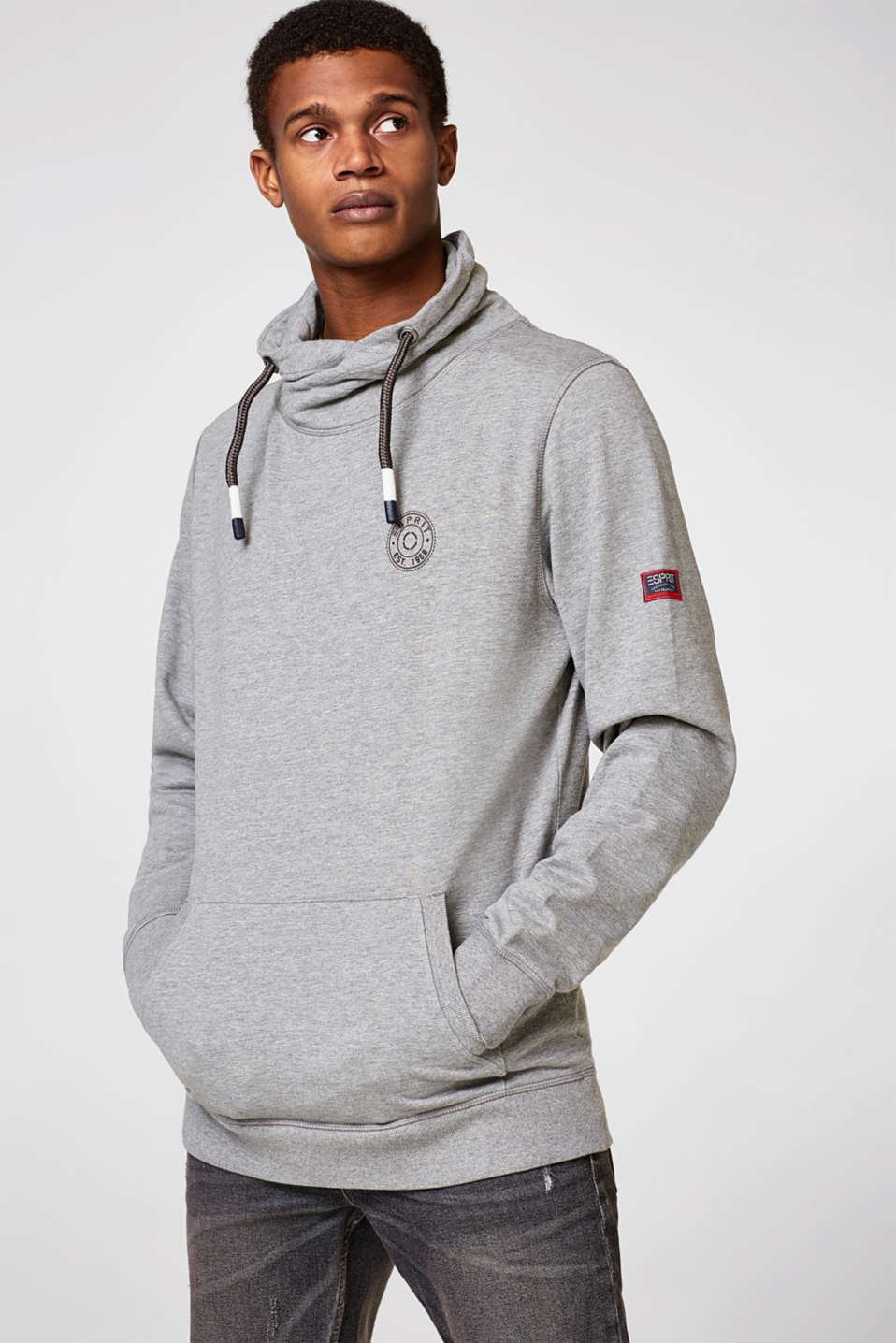 Esprit - Sweatshirt with drawstring collar
