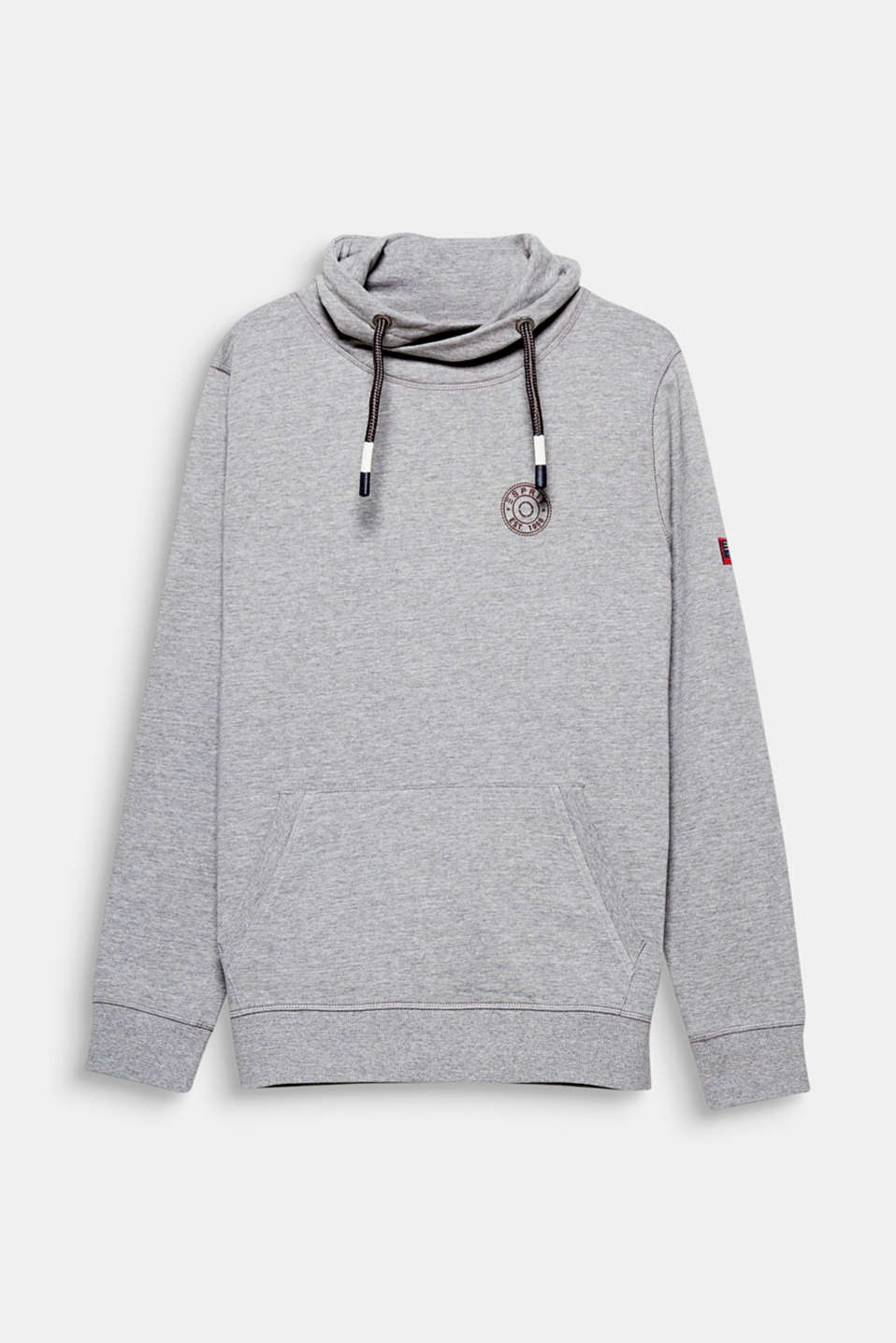 The sweatshirt for a perfect casual look: A drawstring collar and soft sweatshirt fabric create a cosy touch.