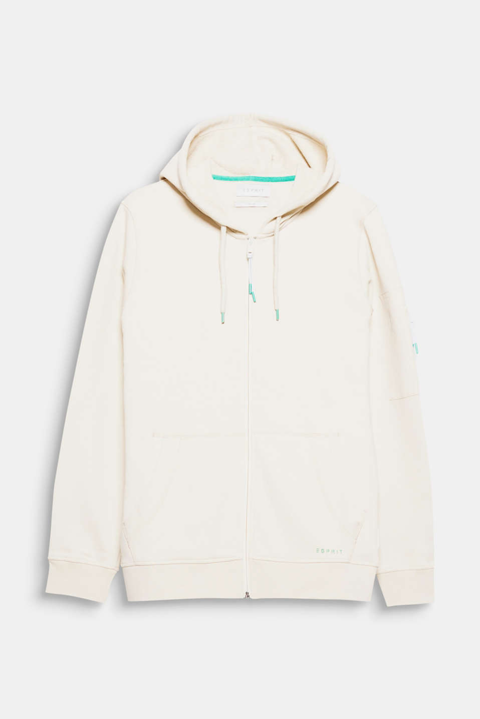 Trend: athleisure – performance for sports, style for time off: sweatshirt hoodie with a zip pocket on the left sleeve.