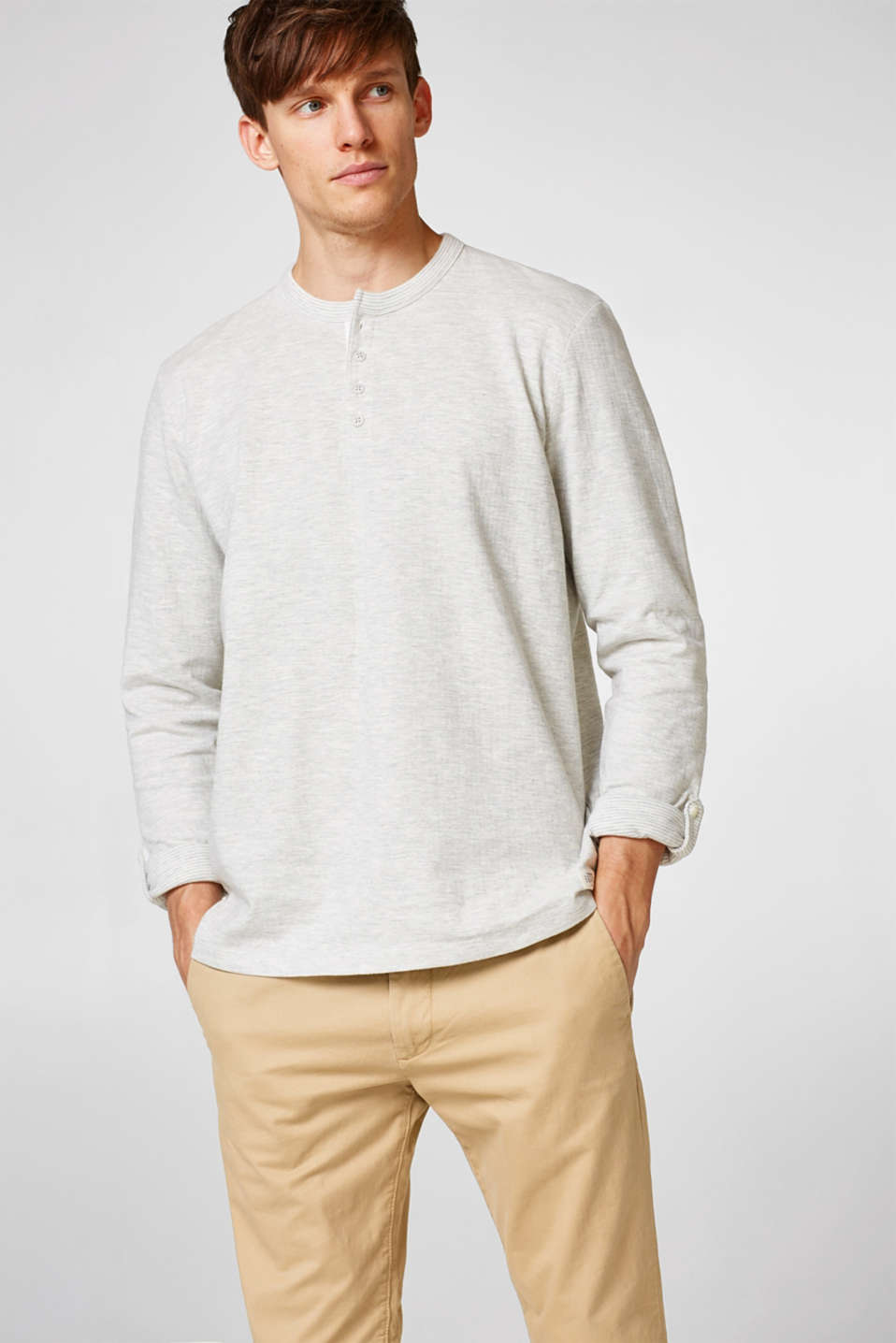 Esprit - Double-faced jersey long sleeve top