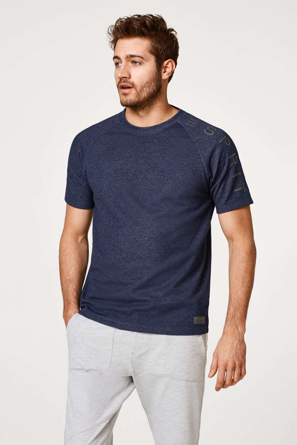 Esprit - Logo T-shirt in thick jersey