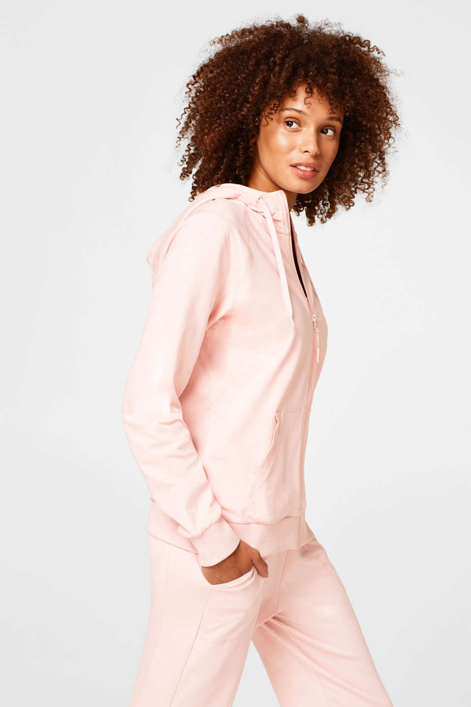 Esprit - Light jersey cardigan in blended cotton