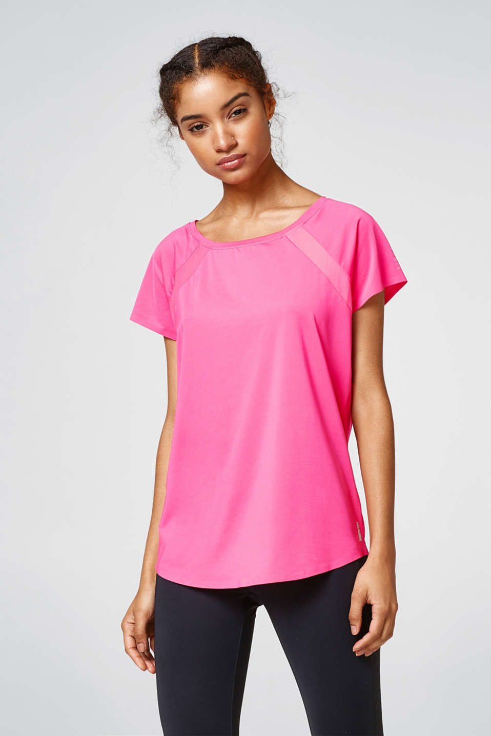 Esprit - Active top with mesh details, E-DRY