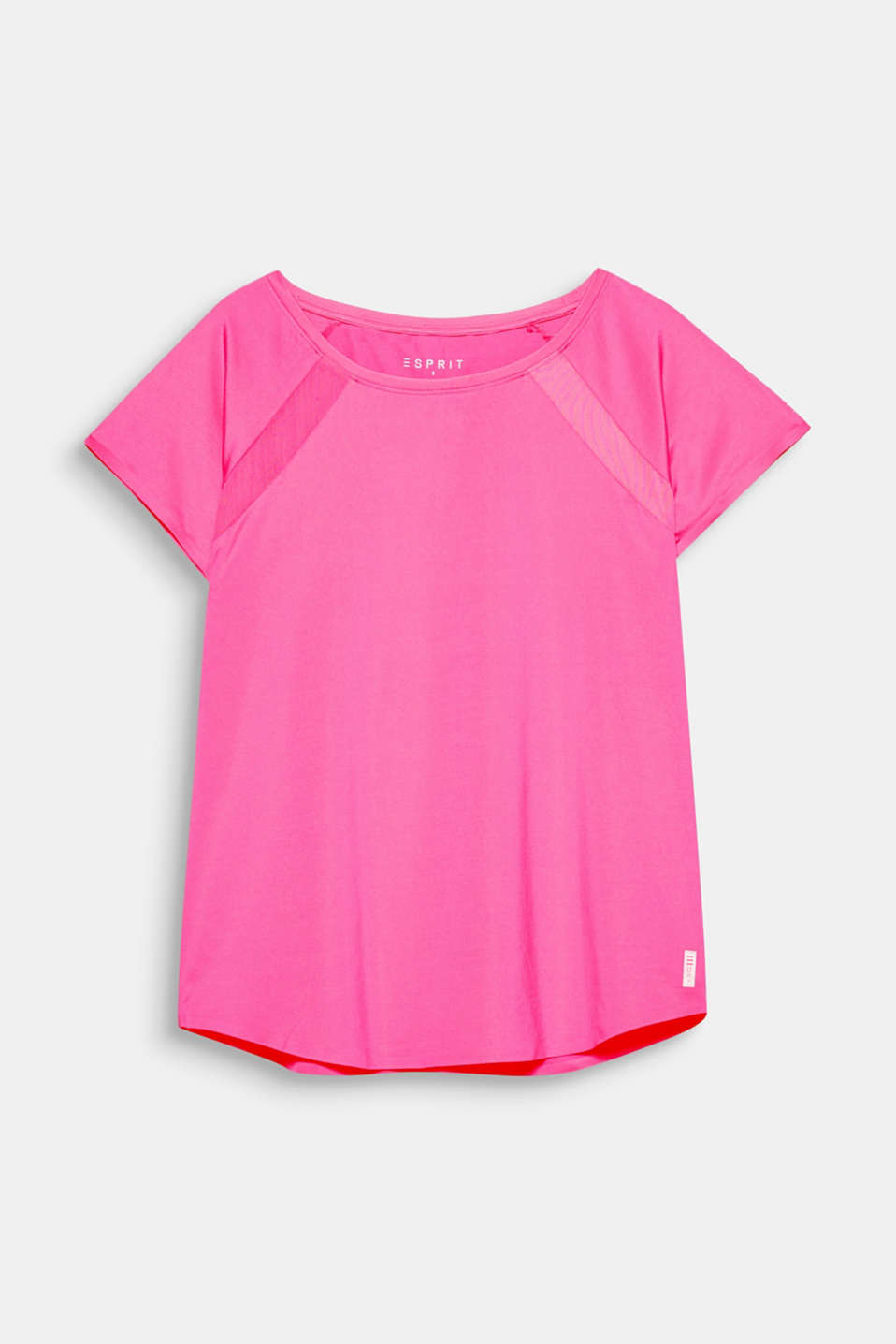 Subtle and vibrant: this casual active top with mesh details and E-DRY technology is functional and comfy!